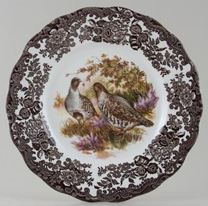 Palissy Game Series brown with colour Plate Partridges c1970