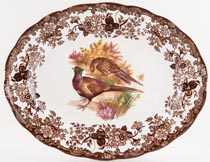 Palissy Game Series brown with colour Meat Dish or Platter c1970