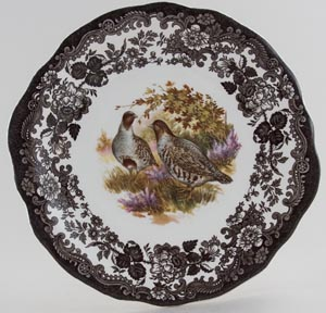 Palissy Game Series brown with colour Bread and Butter or Cake Plate c1970