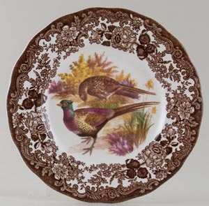 Palissy Game Series brown with colour Plate Pheasants c1970