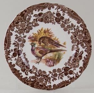 Palissy Game Series brown with colour Plate Pheasants c1960s or 1970s