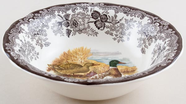 Palissy Game Series brown with colour Bowl Mallards c1970