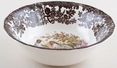Palissy Game Series brown with colour Cereal or Dessert Bowl Partridge c1970