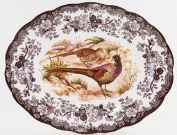 Palissy Game Series brown with colour Meat Dish or Platter Pheasants c1970