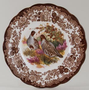 Palissy Game Series brown with colour Plate Partridge c1970