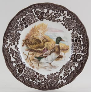 Palissy Game Series brown with colour Plate Mallards c1970