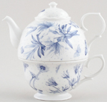 Portmeirion Botanic Blue Tea for One Set