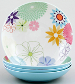 Portmeirion Crazy Daisy colour Pasta Bowls set of 4