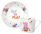 Portmeirion Peppa Pig Mug and Bowl Set boxed