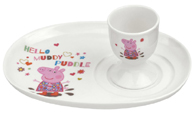 Portmeirion Peppa Pig Egg Cup and Soldier Set Boxed