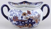 Ridgway Chinese Japan blue with colour Sugar Bowl c1900