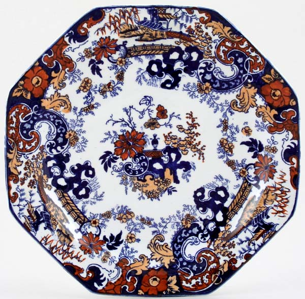 Ridgway Chinese Japan blue with colour Plate c1926