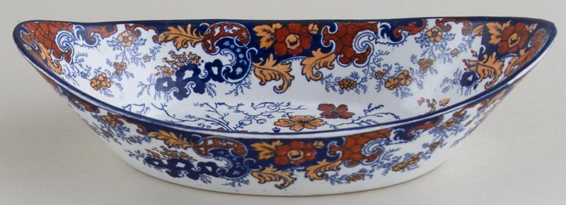 Ridgway Chinese Japan blue with colour Dish c1900