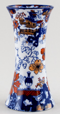 Ridgway Chinese Japan blue with colour Vase c1900s