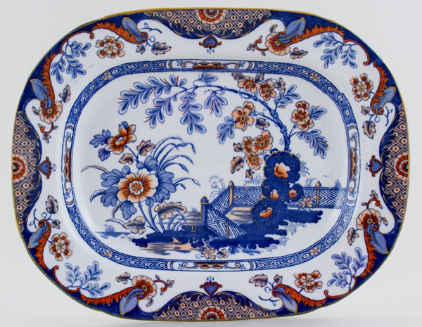 Ridgway Anglesey colour Meat Dish or Platter small c1914
