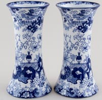 Ridgway Chinese Japan Vases pair of c1920s