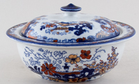 Ridgway Chinese Japan blue with colour Soap Dish c1900