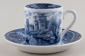 Ridgway Venice Coffee Can and Saucer c1920s