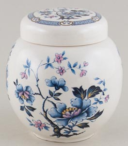 Sadler Unidentified Pattern blue with colour Ginger jar c1920s