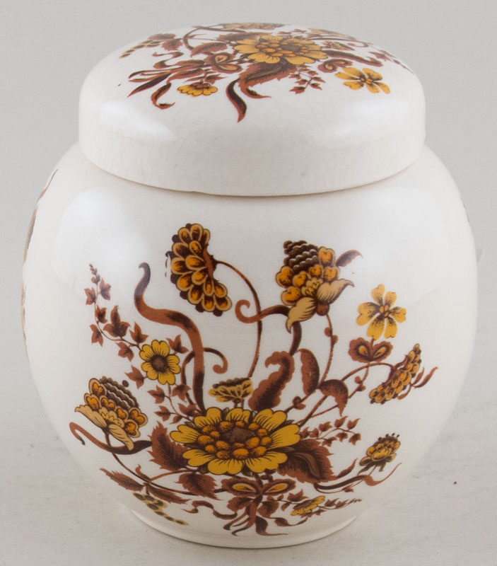 Sadler Unidentified Pattern brown Ginger Jar c1930s