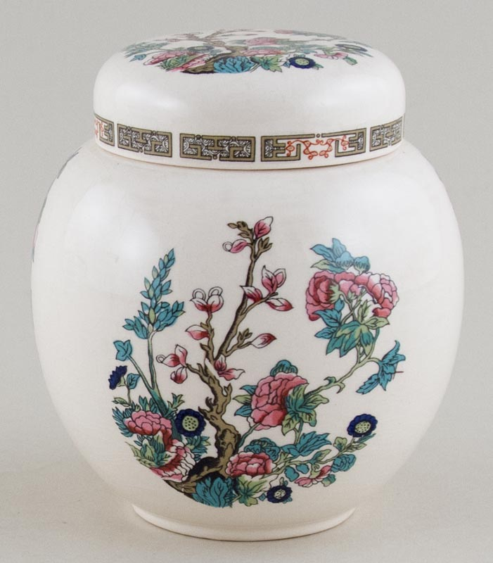 Sadler Indian Tree colour Ginger Jar c1950s
