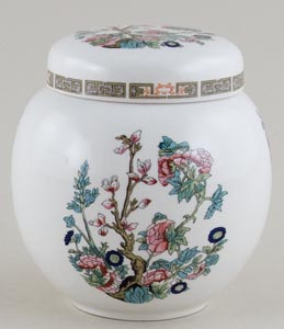 Sadler Indian Tree colour Ginger Jar c1930s
