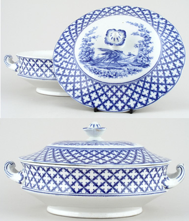Hancock Sampson Chantilly Vegetable Dish with Cover c1930s