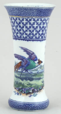 Hancock Sampson Chantilly blue with colour Vase c1920s