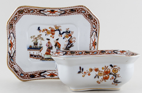 Hancock Sampson Cheng colour Sauce Tureen c1920s