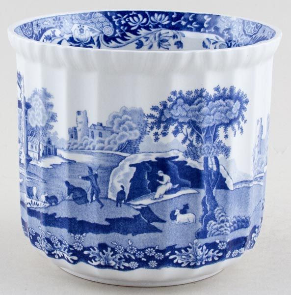 Spode Italian Cache Pot C1989 Lovers Of Blue And White