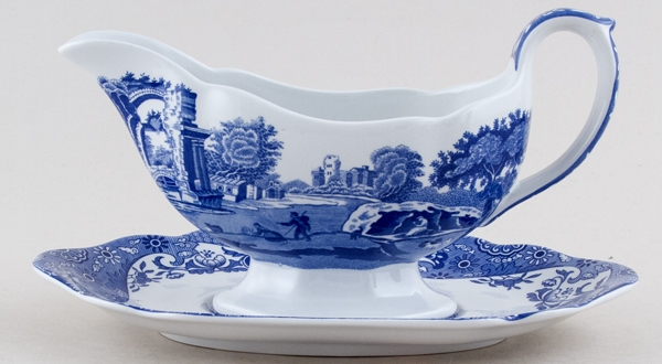 Spode Italian Sauce Boat with Stand c1997