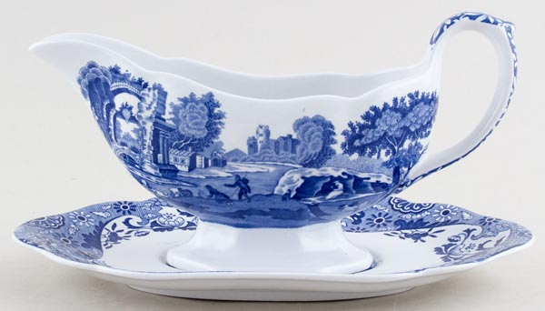 Spode Italian Sauce Boat with Stand c1980s