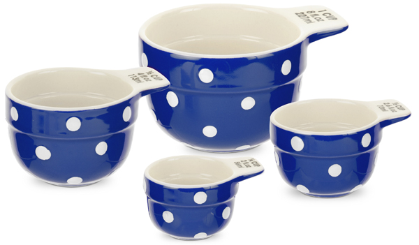 Spode Baking Days blue dark Measuring Cups Set of Four