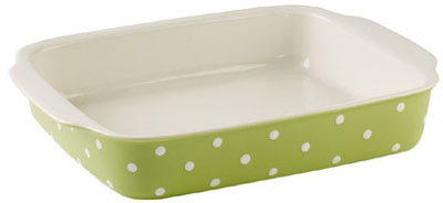 Spode Baking Days green Dish rectangular