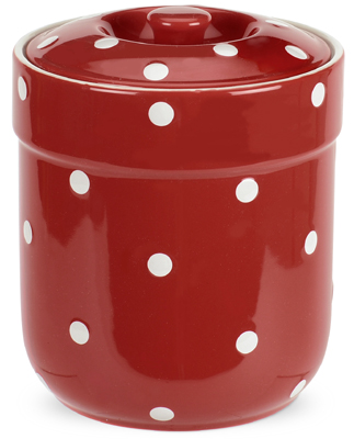 Spode Baking Days red Storage Jar medium | Lovers of Blue and White