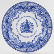 Spode Queen's Birthday Commemorative Plate