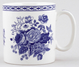 Spode Blue Room Mug Blue Rose