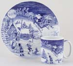 Christmas Plate and Mug Set Santas Big Day 2008