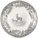 Spode Delamere Rural grey Tea Plate Deer