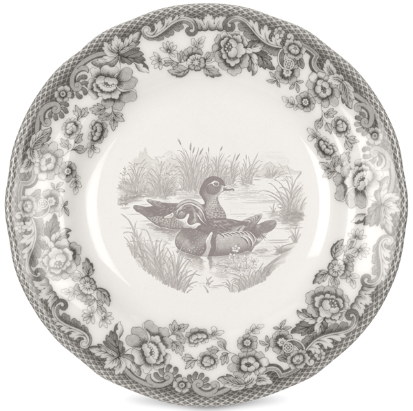 Spode Delamere Rural grey Tea Plate Wood Duck