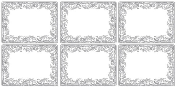 Spode Delamere Rural grey Placemats set of six