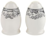Spode Delamere Rural grey Salt and Pepper Pots or Shakers