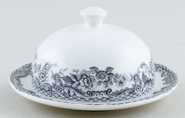 Spode Delamere Rural grey Butter Pat with Cover round