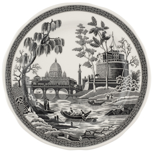 Spode Heritage Collection black Dinner Plate Rome