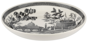 Spode Heritage Collection black Pasta Bowl Rome