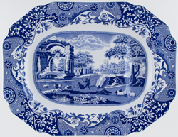 Spode Italian Meat Dish or Platter tree and well 200th Anniversary