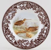 Spode Woodland brown with colour Tea Plate Snipe