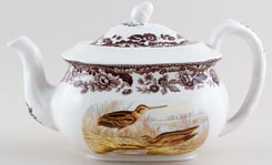 Spode Woodland brown with colour Teapot Pheasant and Snipe