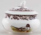 Spode Woodland brown with colour Sugar with Cover