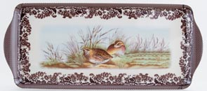 Spode Woodland brown with colour Sandwich Tray melamine